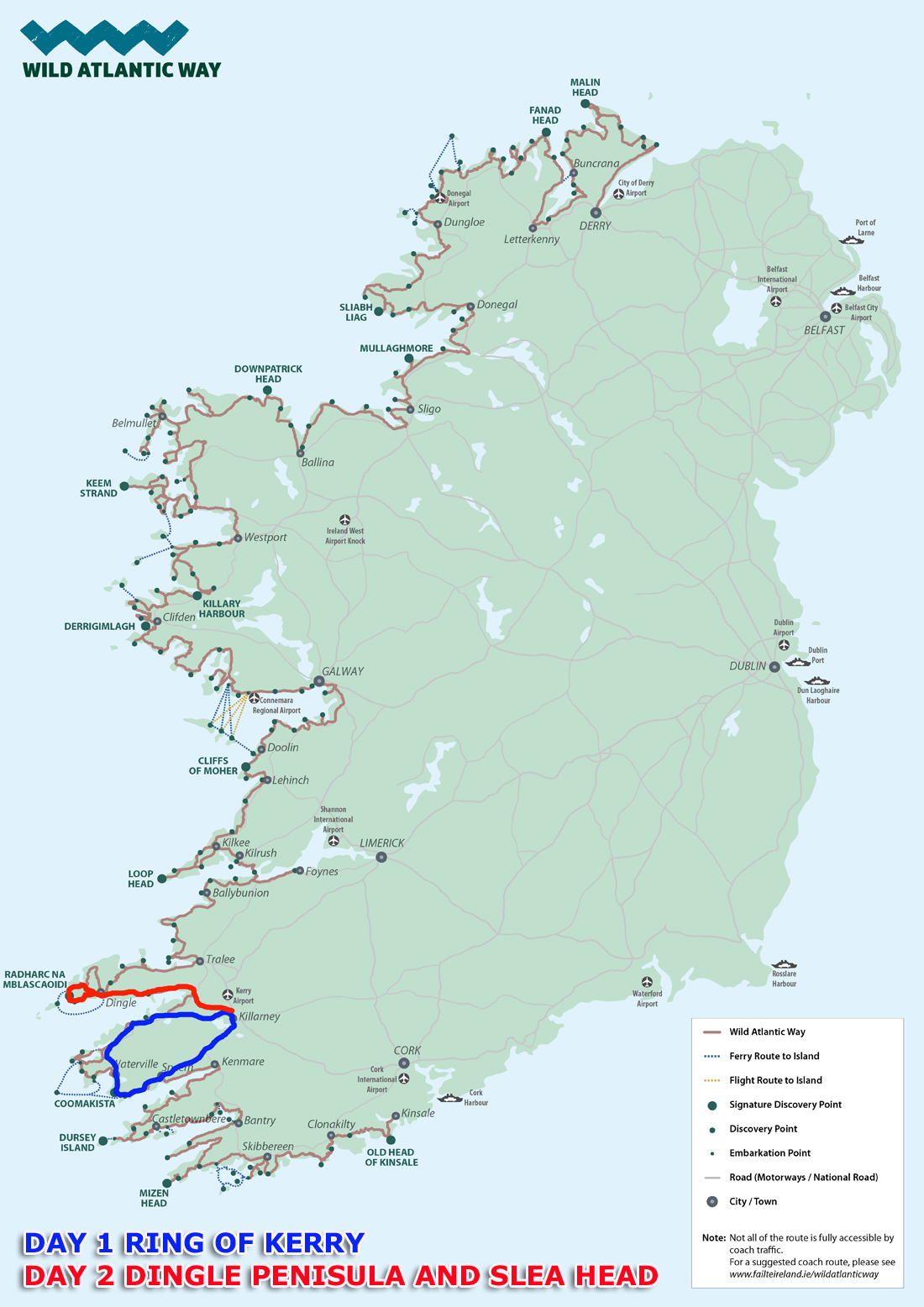 Wild Atlantic Way Ring of Kerry and Dingle Peninsula Combined Tour on